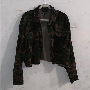 Camp/ corduroy cropped top shop jacket